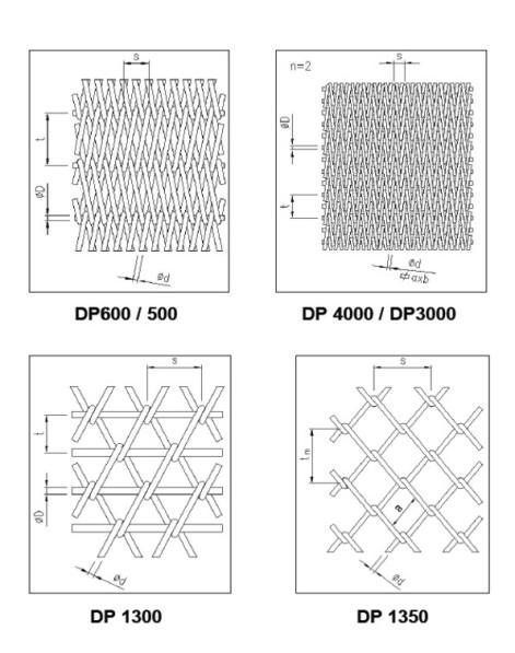 Конвейерная сетка DP400/DP300